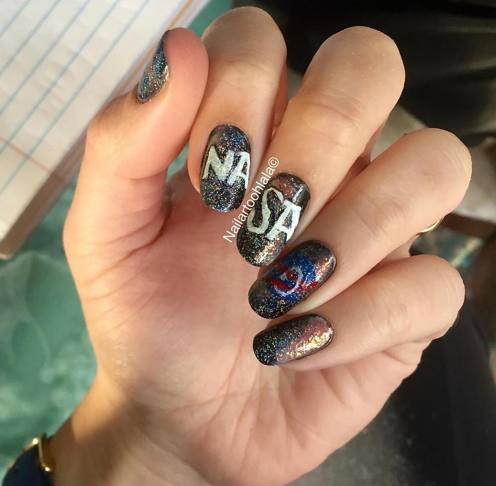 NASA inspired nails nail art