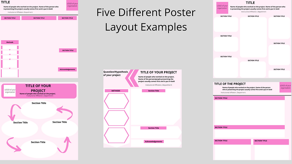 Scientific poster presentation template