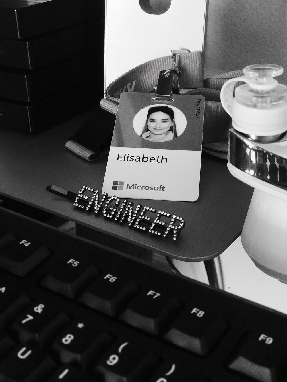 Elisabeth Pring with engineer crystal hair pin