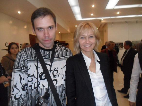 С актр театра и кино Ингеборгой Дапкунай