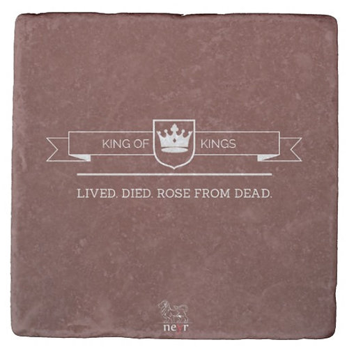 King of Kings Stone Coaster