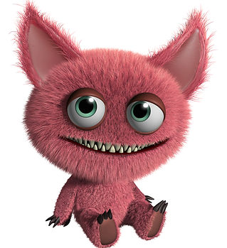 Furry Pink Monster Animation