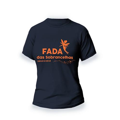 """Camiseta Coleção Fadas """"Fada das Sobrancelhas"""" Azul"""