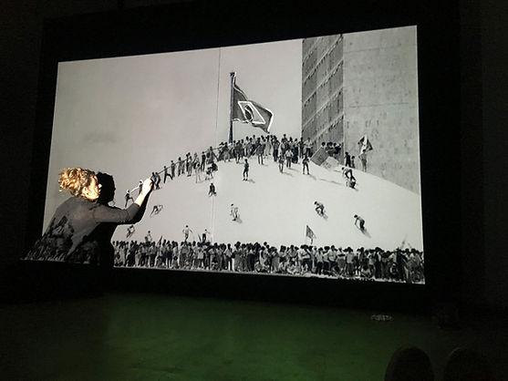 'rastreando', multimedia action, 2016, bianca turner