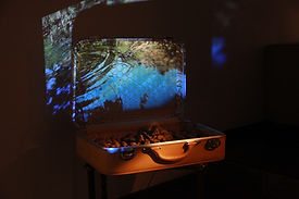 'stones I carry', multimedia installation, 2016, bianca turner