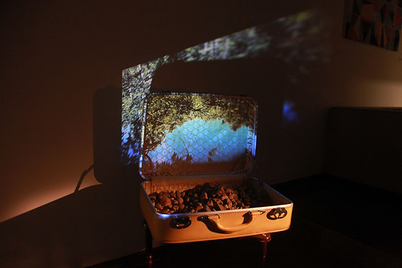 'stones I carry', multimedia installation, 2016, bianca turner