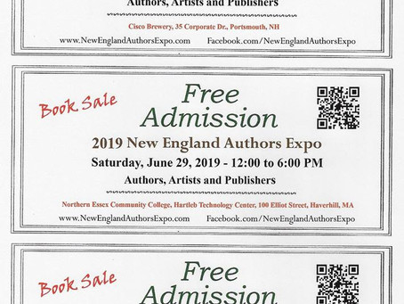 Come See me at The New England Authors Expo in Portsmouth NH!