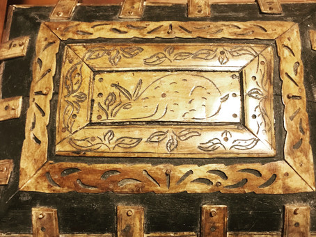 A Carved box from the ancient hares of Chatterbox World.... a sneak peek at the upcoming sequel.