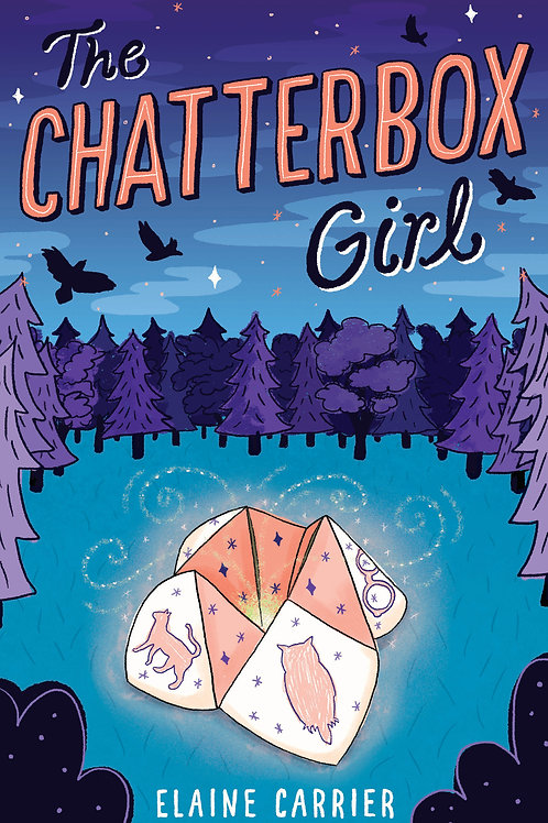 Please click on the book above to purchase a signed copy of The Chatterbox Girl