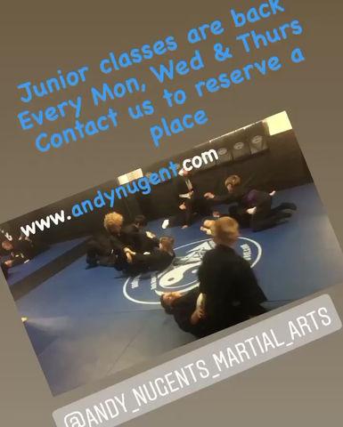 Junior classes are BACK