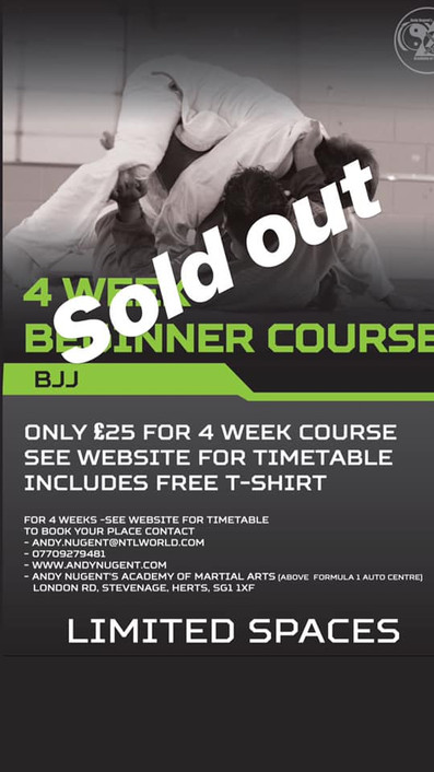 BJJ beginners course SOLD OUT