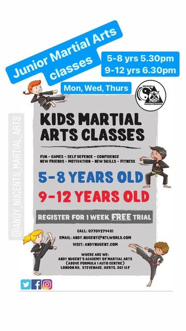 Junior classes re starting Wednesday