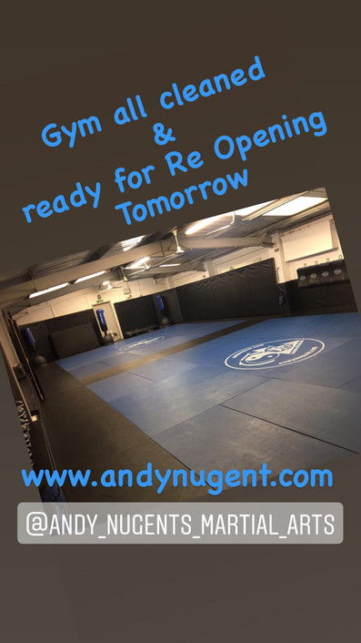 Gym Re Opening tomorrow