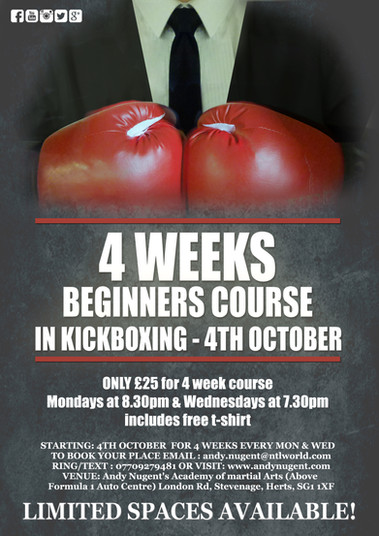 Kickboxing beginners class