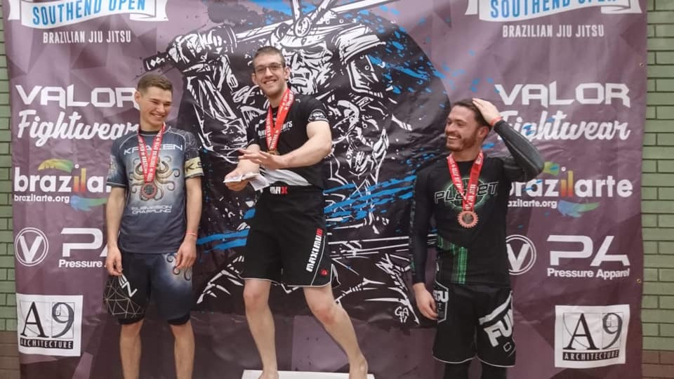 Big congrats to Ben Adams taking double Gold at Southend No Gi