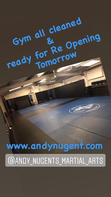 Gym opening tomorrow