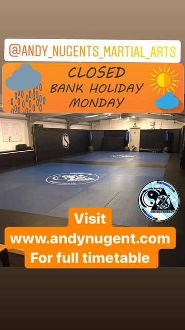 Closed Bank Hol Monday