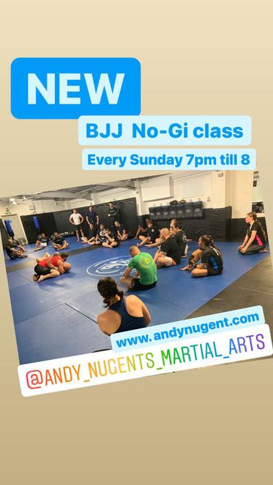 new Sunday no gi class