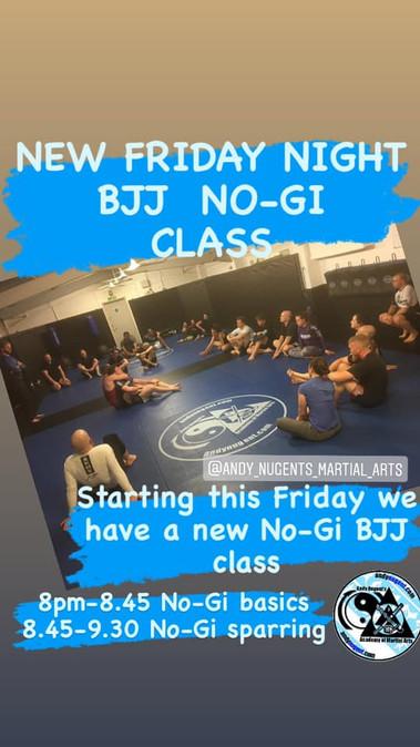 New Friday Night Classes