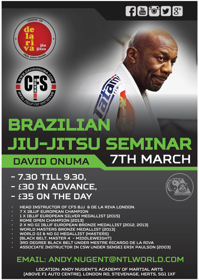 BJJ master class with David Onuma