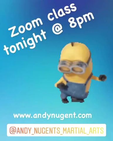 Zoom class tonight at 8pm