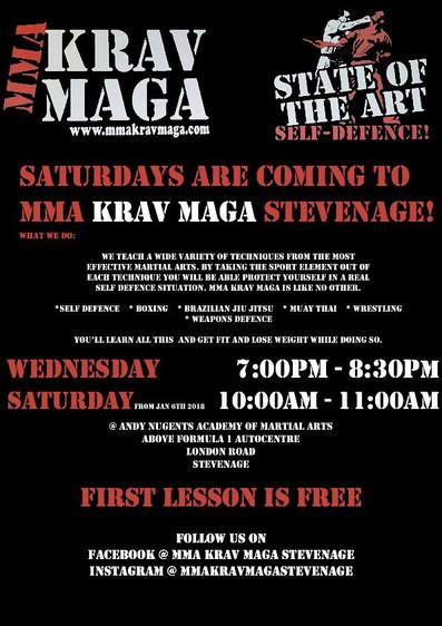 New class Krav Maga on Saturdays