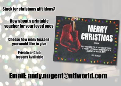 Christmas Voucher Present