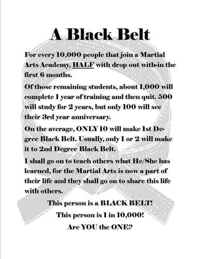 Becoming a Black Belt