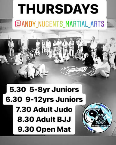 Thursday night classes from 5.30
