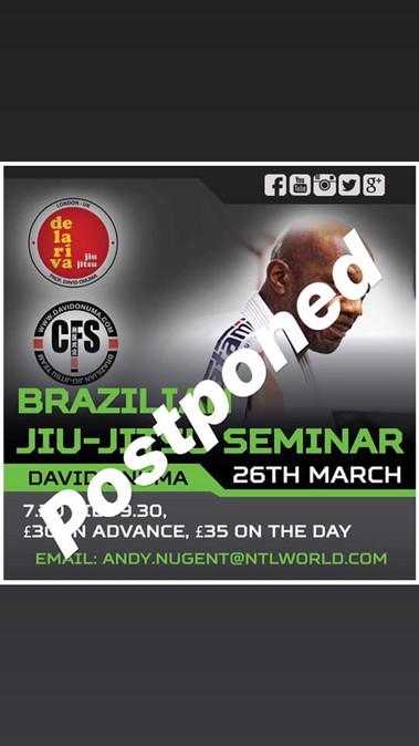 BJJ seminar postponed