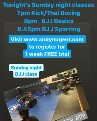 sunday night classes from 7pm
