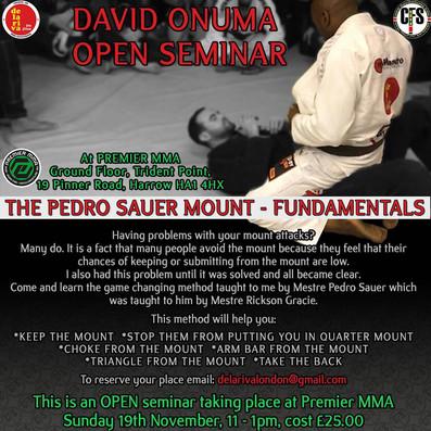 BJJ Seminar with David Onuma