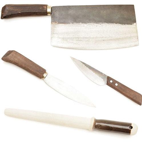 BBQ-SET aus VAY12,HEP16,CUNG21mm,2mm und Schleifstab