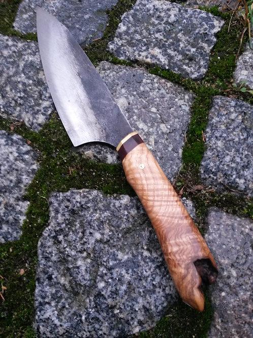 Küchenmesser mit wildem Griff aus Esche