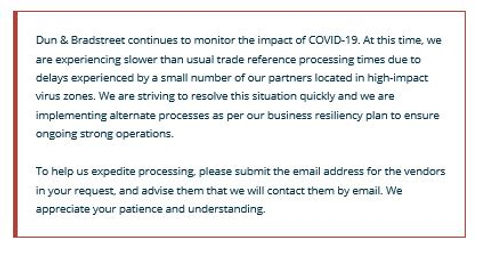 000_DnB Statement regarding Covid-19 and