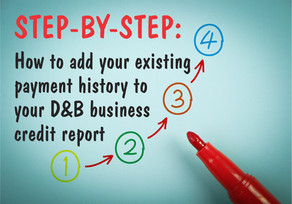 Step-by-Step: Adding payment history to your D&B credit file