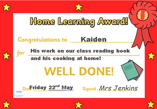 CLASS 4/5J HOME LEARNING 22.05.2020