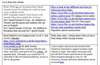 CLASS RA HOME LEARNING 08.06.2020