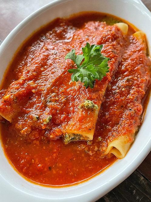 Spinach Ricotta Cannelloni
