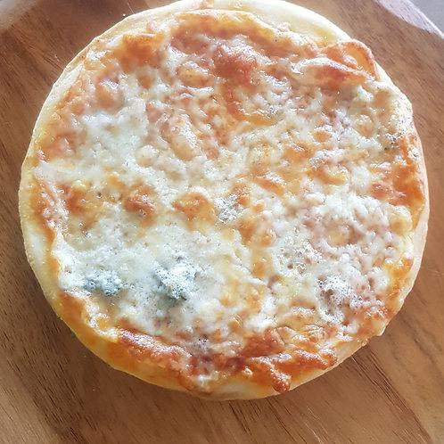 """Quattro Formaggi 7"""" pizza"""