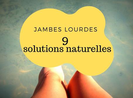 9 astuces naturelles pour soulager les jambes lourdes
