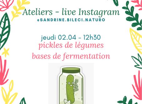 Web atelier Pickles et fermentation
