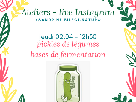 Web atelier Pickles et fermentation
