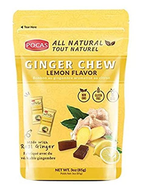 POCAS GINGER CHEW (lemon)