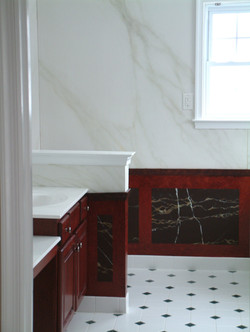 Hand-painted faux marble finishes