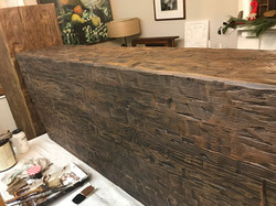 Faux wood beam made from high-density foam