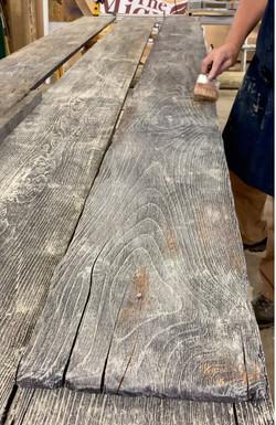 Hand-weathered barn wood