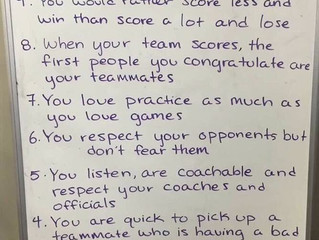 Top 10 Signs You're a Great Teammate!