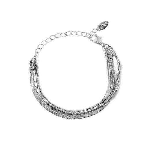 Orelia London Armbånd Snake 3-row Silver