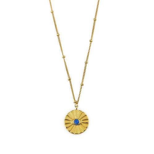 Orelia kedje Evil Eye Medallion Capri blue